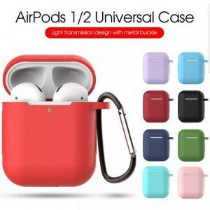 Para Apple AirPods Funda Proteger Funda de silicona Piel Fundas para cargador de auriculares AirPod