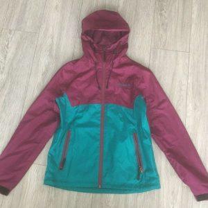 CRIVIT Outdoor Wear Women's Water Resistant Jacket SIZE 12 Teal / Magenta Shade