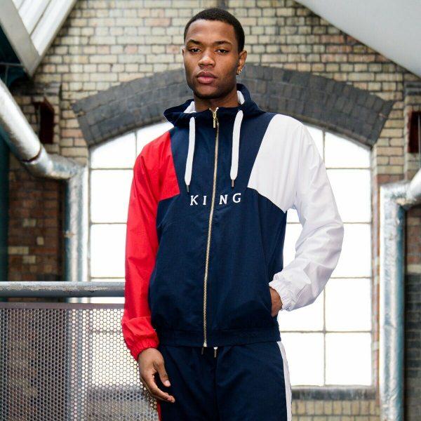 KING APPAREL - British Streetwear - Aldgate Shell Tracksuit Hoodie - Ink [BNWT]
