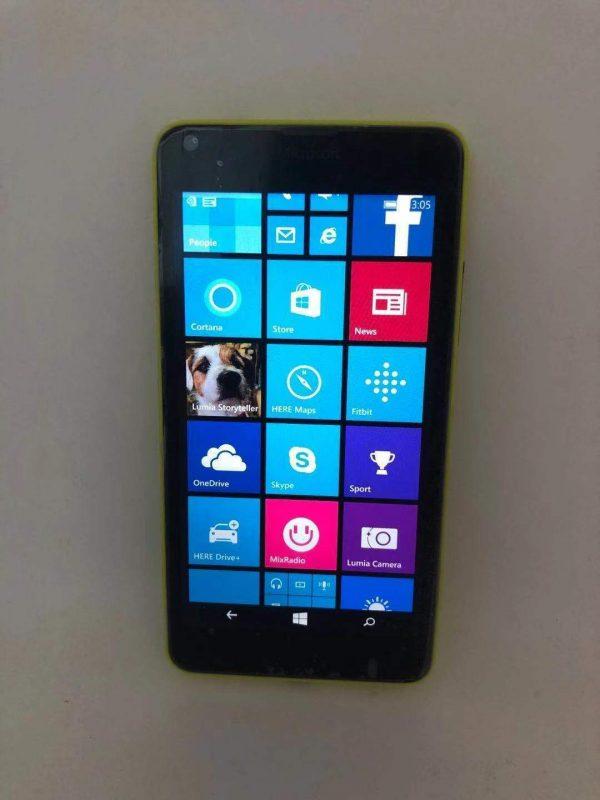 Unlocked Nokia Lumia 640 Microsoft Windows Camera Mobile Cell Phone 8GB Yellow